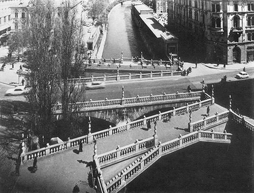 (image: Joze Plecnik, three bridges, Ljubljana 1933)