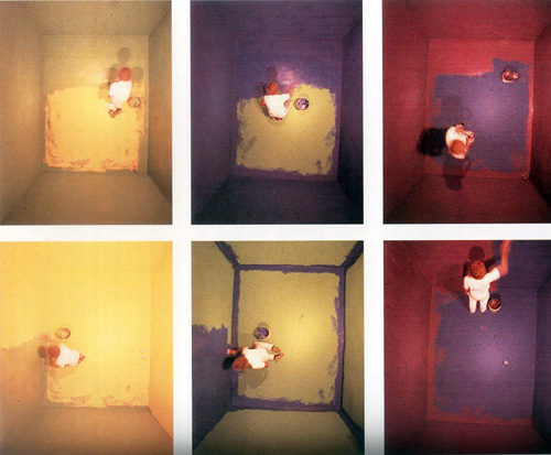 (image: John Baldessari, Six Colorful Inside Jobs, 1977)